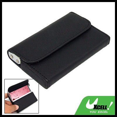 Black Leather Surface Aluminum Business Card Case
