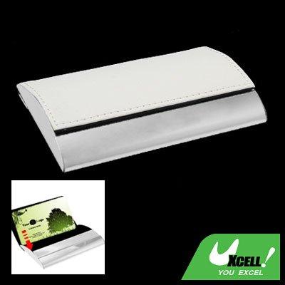 Magnetic Flip Leather Metal Business Card Case Holder