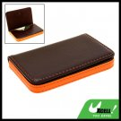 Magnetic Flip Leather Business Credit Card Case Holder Brown