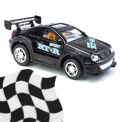 Toy - Radio Remote Control 1:52 Super Fast Racing Car - Black