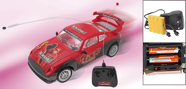 Toy-Incredible Remote Control RC Car-Red