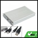 Silver USB 2.5 inch SATA HDD External Enclosure Hard Drive Case Box