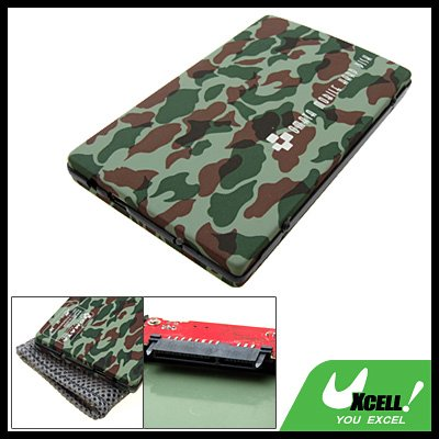 Camouflage 2.5 Inch USB SATA HDD Hard Drive Enclosure Case