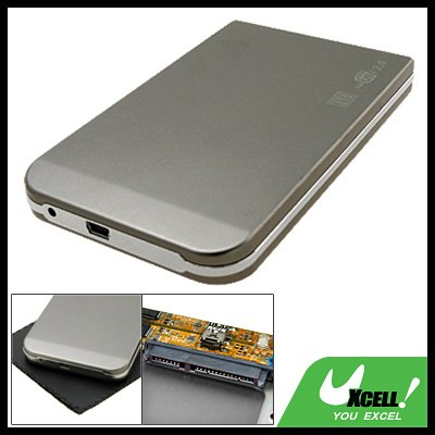 "USB 2.0 SATA 2.5"" HDD Mobile Case Grey Hard Drive Enclosure"