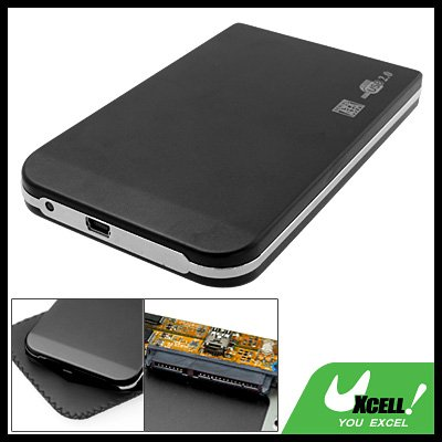 "Pocket USB 2.0 2.5"" SATA Hard Drive HDD External Enclosure Case"