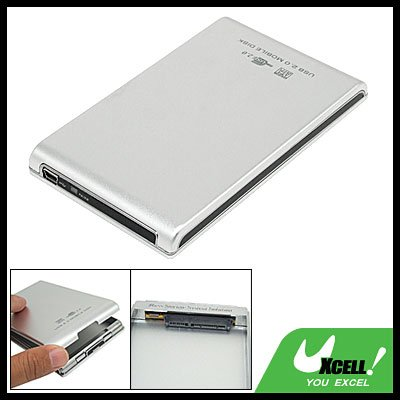 "USB 2.0 Hard Drive Enclosure Case Box for 2.5"" Inch SATA HDD"