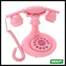 Deluxe Vintage Classical Corded French Cradle Telephone - Pink