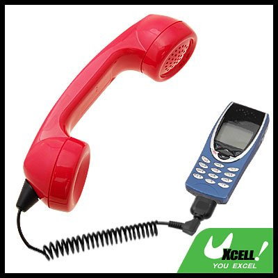 Traditional Talky Telephone Handset Microphone for Ericsson T29 Nokia 8250 3210 Red