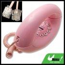 Hi-Low Tone Pulse Pink RJ11 Scroll Corded Desk Home Telephone