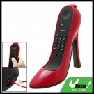 Gorgeous Super High-Heel Stiletto Shoe Loafer Telephone Corded Phone Red