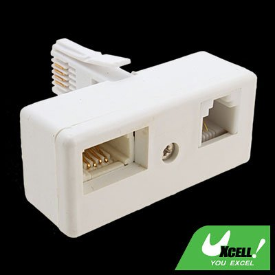 ADSL Filter RJ11 Socket to UK Telephone Plug Adapter