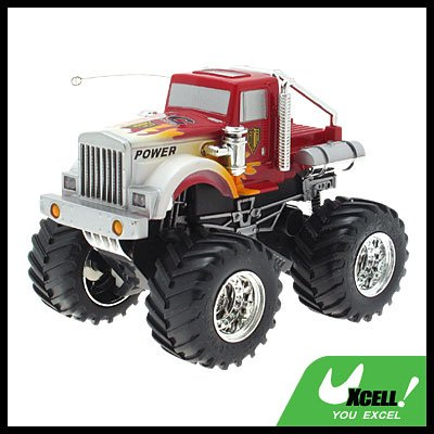 Toy - Radio Remote Control RC 4x4 Cross-country Convoy Racing Car-Red