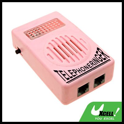 Mini Pink RJ11 Socket Loud Telephone Speaker Ringtone Amplifier Loudspeaker