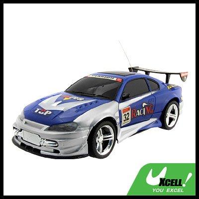 1:18 Model Blue High Power Radio Control Racing Car Toy