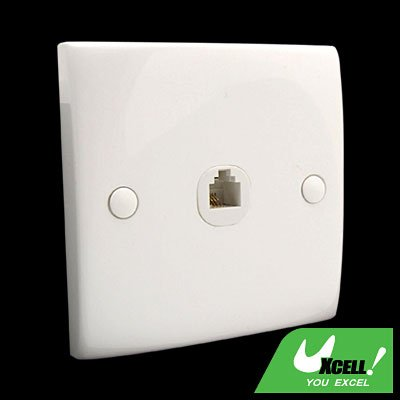 1 Gang 4 pin RJ11 Telephone Outlet Wall Plate