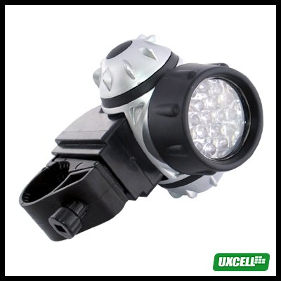 19 LED Power Beam Bike Bicycle Headlight Torch Lamp -Silver and Black