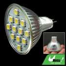 Warm White 12V DC MR16 Spotlight Bulb w/12 SMD 5050 LED
