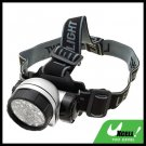 28 LED + Head Strap Micro Headlamp Head Torch - Silver & Black