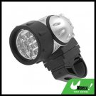 12 LED Bike Bicycle Headlamp Torch Lamp - Black & Silver