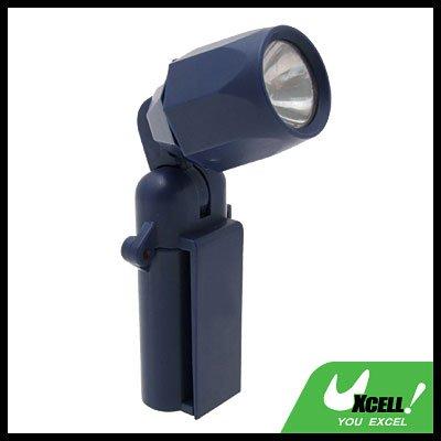 90 Degree Rotating Lamp Head Clip Torch Flashlight Blue