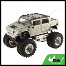 Toy - Silver High Speed 2 LED Remote Radio Control RC Racing Car Kids Toy