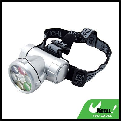 6 Super White LED + Head Strap Mini Headlamp Flashlight