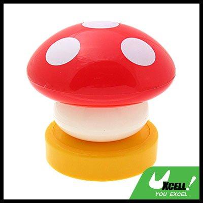 Red Mushroom Head Press Down Desk Lamp Night Light