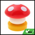 Red Mushroom Head Press Down Desk Lamp Night Light