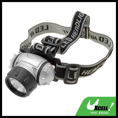 7 White LED Outdoor Head Flash Light Lamp with Strap