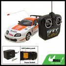 Kids Toy Remote Control Racing R/C Car White and Orange