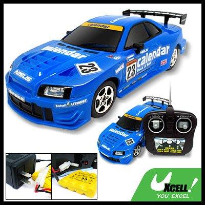 Blue Remote Control R/C Racing Music Car Toy