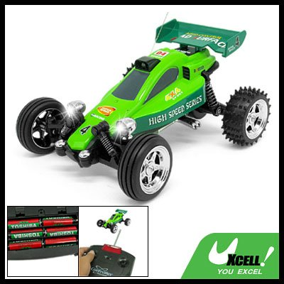 Remote Control Kart Racing Car Green Children's Racer Toy