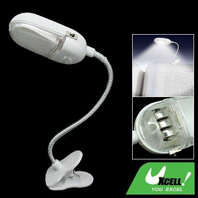 Goose Neck Flexible Clip - On LED Light Reading Book Lamp