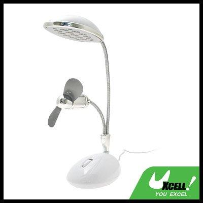 USB Super Bright 13 LED Lamp & Fan for Notebook/PC/laptop/Desktop