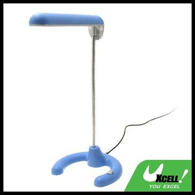 10 White LED Lights USB Stem Desk Table Reading Lamp Light Blue