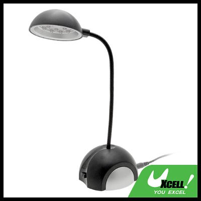 15 LED Lights USB Stem Desk Table Lamp Light Black