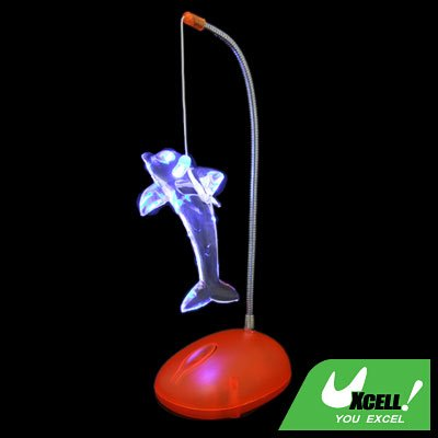 Colorful Crystal Dolphin Pendant Desk Light Lamp