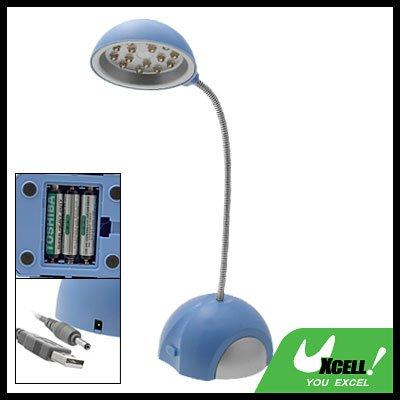 15 LED New Blue USB Desk Lamp for Work Leisure