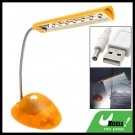 Flexible USB 8 LED Desk Light Lamp for Notebook Laptop PC