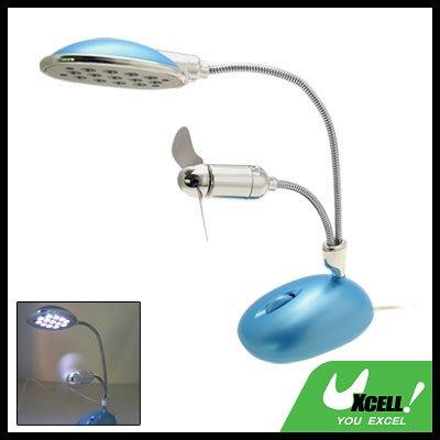 13 LED USB Desk Lamp Light with Fan for Desktop Laptop