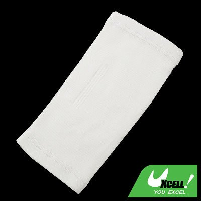 Tennis Elastic Elbow Supporter Band Pad Brace Arm Protector White