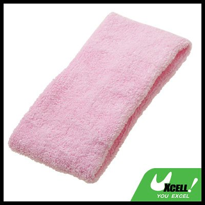 Pink Sports Tennis Elastic Head Sweat Band Strap