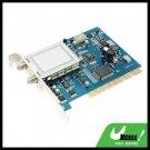 PCI Digital Statellite TV Tuner Video Capture Card & Remote Control