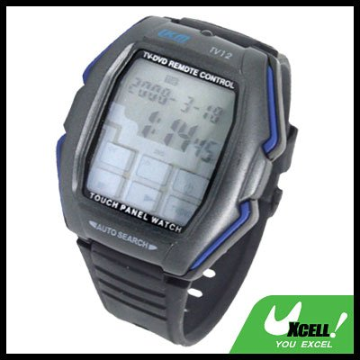 Touch Screen Panel-Function Remote Control TV/DVD Wrist Watch Black