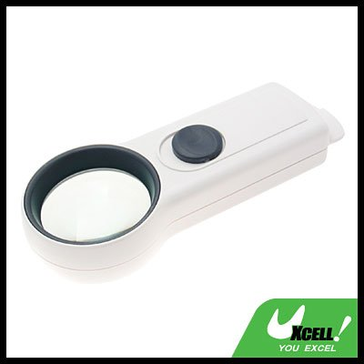 6X High-Quality Pocket Illuminated Magnifier Magnifying Glass-White