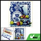 Porcelain & Fruit Counted Cross Stitch Cross-Stitch Kit