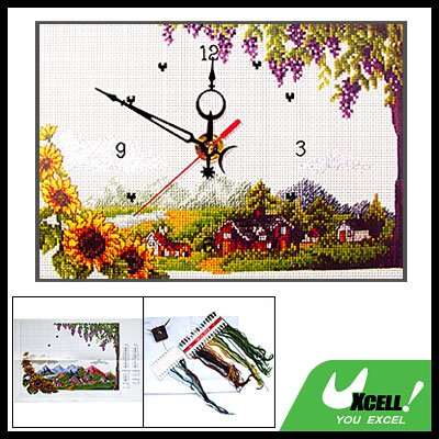 Wall Clock Timer Counted Cross Stitch Embroidery Kit