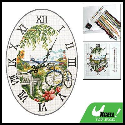 Time Wall Clock Counted Cross Stitch Cross-Stitch Kit