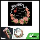 Wreath Cushion Case Counted Cross Stitch Pillow Cover Kit