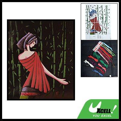 Lady & Bamboo Counted Cross Stitch Cross-Stitch Kit